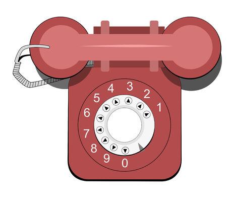 pulse desk phone Illustration