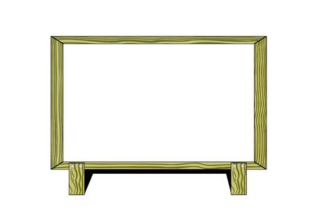 bill board: wooden bill board Illustration