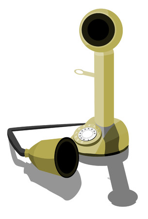 call history: Ancient Phone Illustration