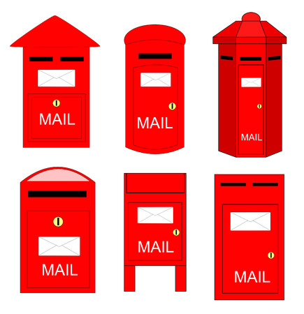 Various shape of postboxes . There is rarely somebody using it nowadays.