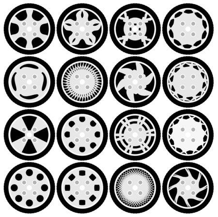 rim: Wheel rim design set