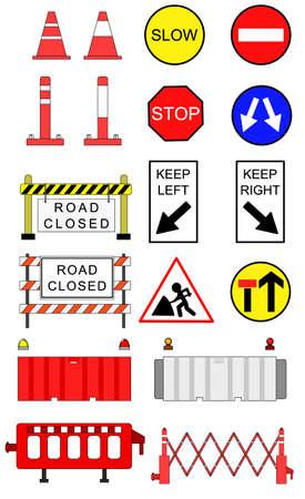 Traffic blockage objects set