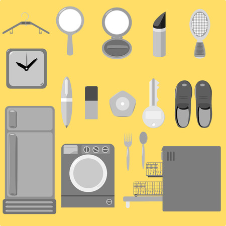 Everyday tool vector graphic set Illustration