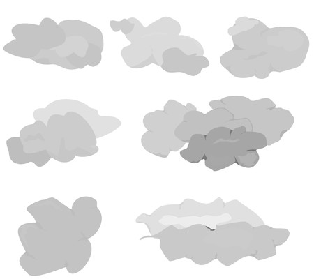 적란운: 구름 아이콘을 설정 일러스트