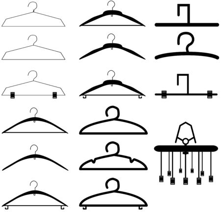 Various shape of hangers icon set  Vector