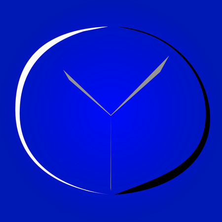 minimalist: Minimalist clock icon design