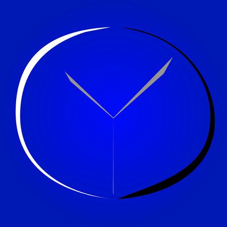 minimalista: Minimalista óra ikon tervezés Illusztráció
