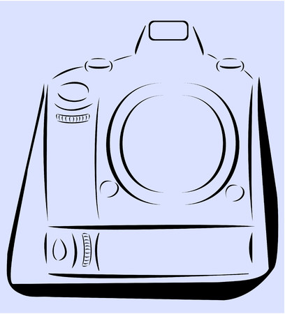 minimalist: Profession Camera with strap minimalist design vector