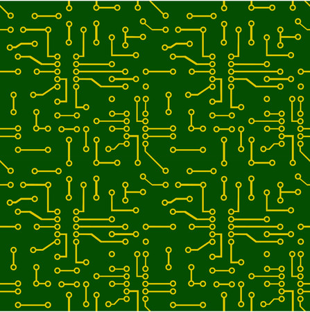 Seamless pattern of PCB vector Illustration