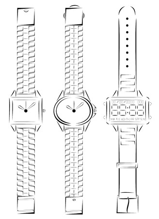 minimalist: Three kind of watches minimalist design vector