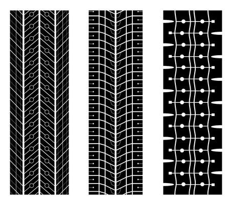 tread: Tyre tread design vector