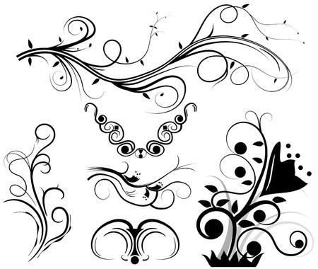 foliate: Set of swirling graphic elements