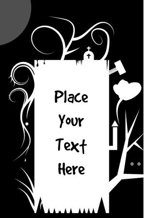 crucify: Halloween text  frame