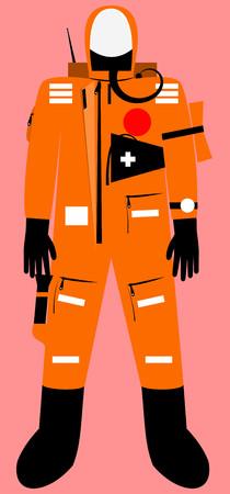 survival: Full body survival suit with communicator unit