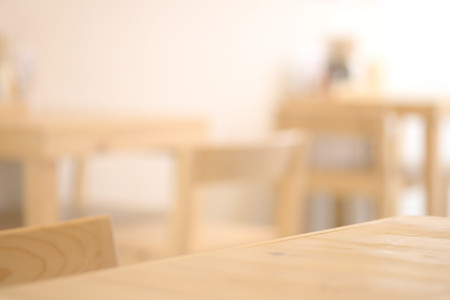 table surface: Abstract blurry restaurant Stock Photo