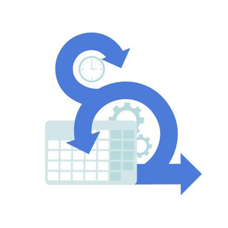 Scrum symbol icon isolated white background. Flat vector illustration.