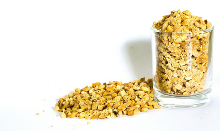 Roasted and Ground Peanuts Stock Photo