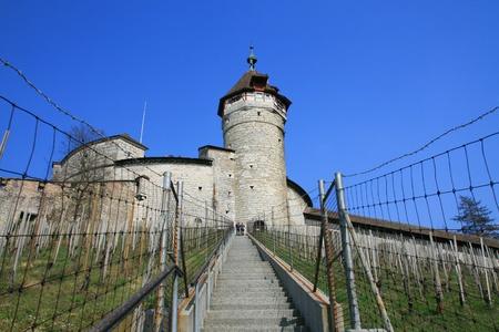 Walk to Munot fortifiction, Schaffhausen, Switzerland Editorial