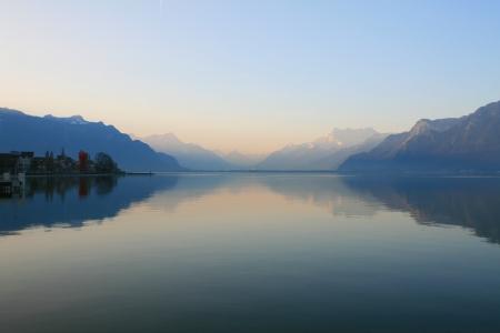 Alps reflection, Vevey, Switzerland