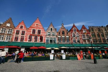 The Markt   Market square  , Favorite City Center of Brugge, Belgium