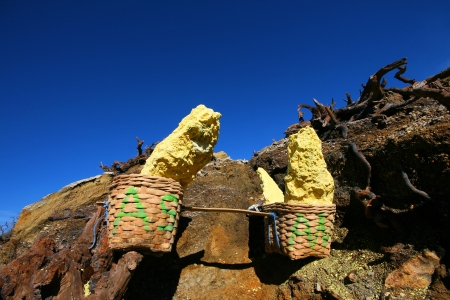 Full basket of sulphur