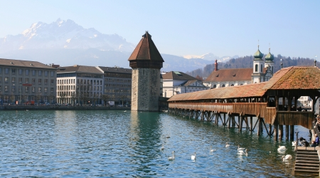 Panoramic view of Chapel Bridge photo