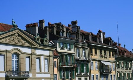Unique roof style from Bern old town, Switzerland