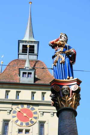 anna: Anna Seiler Fountain, Bern, Switzerland Stock Photo
