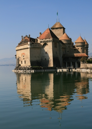 Chillon Castle in Montreux, Switzerland