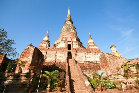 Wat Yai, old temple, Ayuthaya, thailand