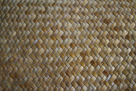 Brown reed mat texture, Thai handicraft photo