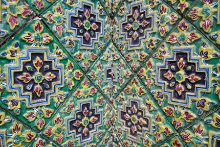 Old ceramic tile background