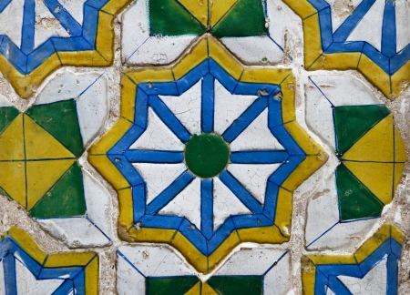 Grungy ceramic tile background Stock Photo