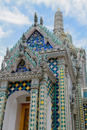 Beautiful pagoda, the Emerald Buddha temple, Thailand Stock Photo