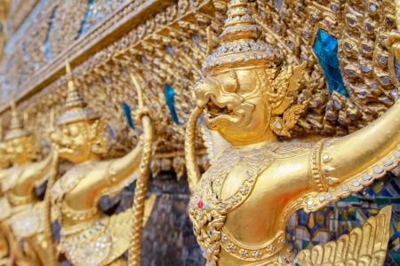 Garuda statues, the Emerald Buddha temple, Thailand