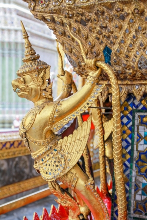 Garuda statue, the Emerald Buddha temple, Thailand photo