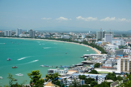 thailand view: Pattaya beach view, Chonburi, Thailand