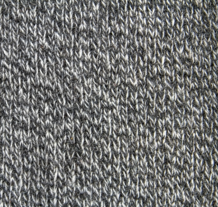 Black and white knitted wool background