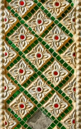 Old wall mosaic texture photo