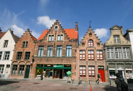 Dutch village, Bruges, Belgium Editorial