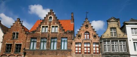 Closed up to unique Dutch gable, Bruges, Belgium