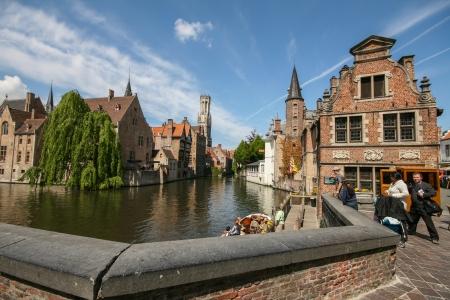 Famous Bruges canal, Belgium