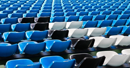 Mixed color empty seats pattern