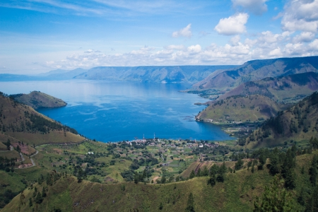 Lake toba in North Sumatra, Indonesia 版權商用圖片