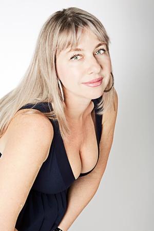 beaux seins: fille sexy avec de beaux seins Banque d'images