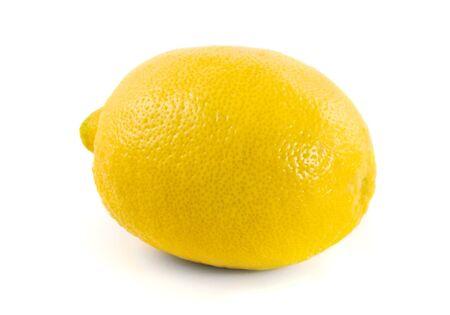 lemony: Tropical fruit lemon on white background