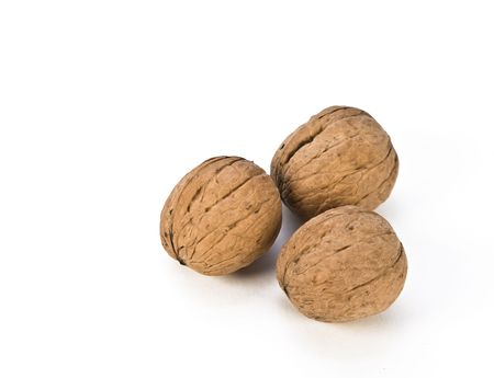 Circassian walnuts isolated on white background photo
