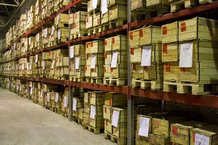 Industrial warehouse with plenty of boxes Stock Photo - 3114678