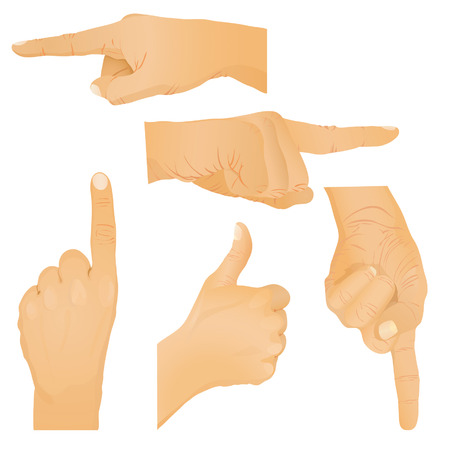 Collection of hand gestures. Vector illustration Vector
