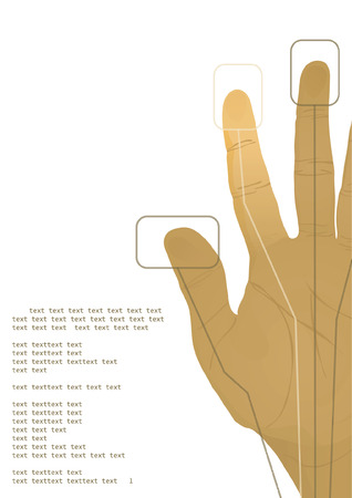 The cybernetics hand. Vector illustration Vector